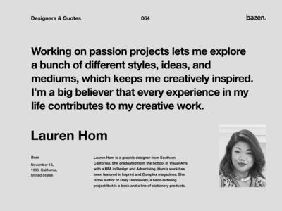 Quote - Lauren Hom