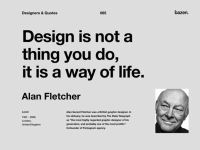 Quote - Alan Fletcher