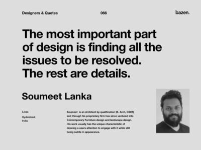 Quote - Soumeet Lanka