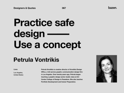 Quote - Petrula Vontrikis