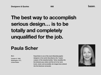 Quote - Paula Scher