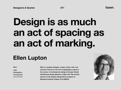 Quote - Ellen Lupton
