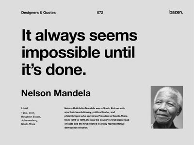 Quote - Nelson Mandela design tips business tip design quotes quote learn design uxui ui ui deisgn ux design quotes motivational quotes inspiration motivation inspirational quote quote design tips ux product design principles