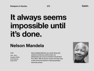 Quote - Nelson Mandela