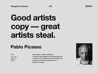 Quote - Pablo Picasso