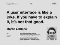 Quote - Martin LeBlanc