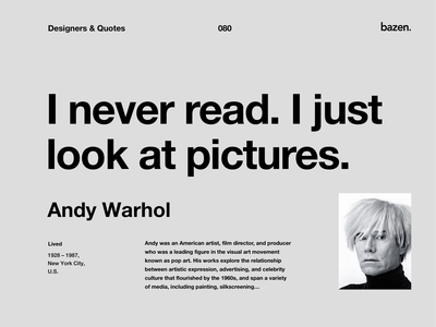 Quote - Andy Warhol learn design design tips motivational quotes motivation inspirational quote inspiration principles uiux design tip design quotes quote quotes learn tips ux ui design ui design ux design product design ui ux