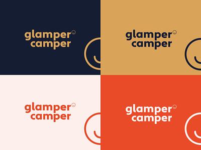 Glamper Camper icon logo design branding
