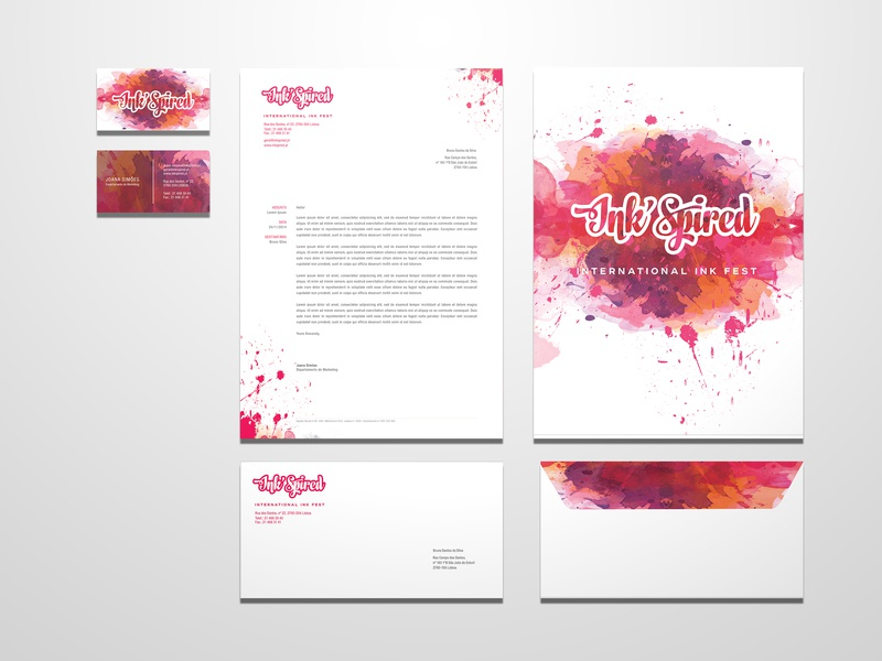 Ink'Spired Festival press kit inkspired paint merchandising merchandise packaging packaging design corporate identity corporate branding creative ink stacionary festival poster festivals festival branding concept branding design branding brand and identity brand
