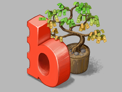 B for Bileto digital art isometric bonsai tree ticket bileto illustration logo brand