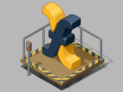 Fundlift Logo digital art lift elevator isometric illustration logo brand
