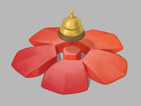 MyStay Logo isometric hotel bell digital art flower illustration logo brand