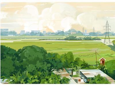 LakeCity ,Dhaka illustration