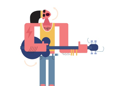 rockstar design icon illustration