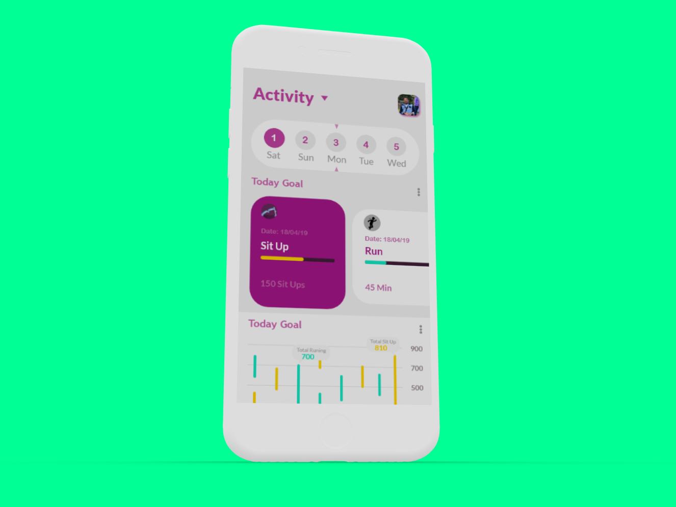 Sport App app web ui ux typography vector design branding sport sport app