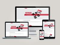 brake-pads.patron.ru - responsive web site
