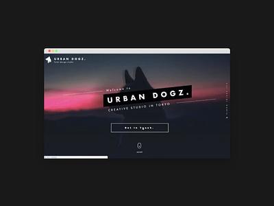 Urban Dogz   Design studio Website vector web front end dev logo typography illustration branding website design