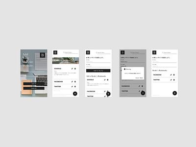 Minimalistic Bookmark App Concept Design flat ui app ux design