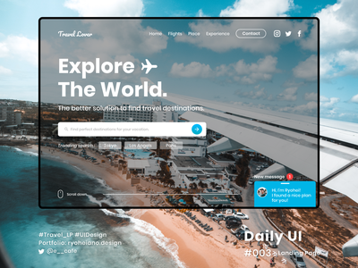 Landing page - Daily UI 003 dailyui003 dailyui ux flat web typography website branding ui design