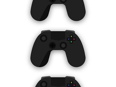 Gaming Controller web icon vector branding typography illustration design