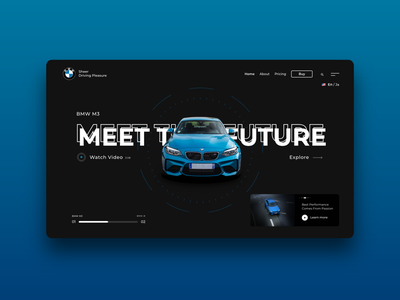 BMW M3 Landing Page Design Concept ui design