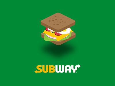 Sandwich w/ SUBWAY logo
