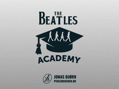 The Beatles Academy beatles schools school icon typography vector design logodesign logo design logo branding the beatles