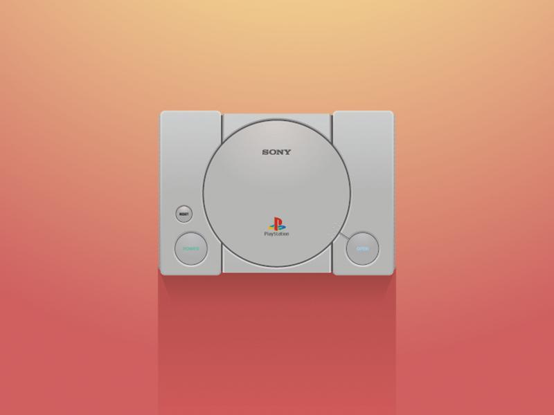 Playstation 1 illustration sony playstation