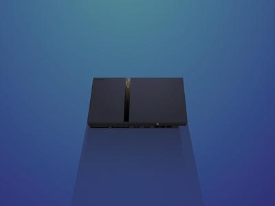 Playstation 2 slim illustration playstatyion sony
