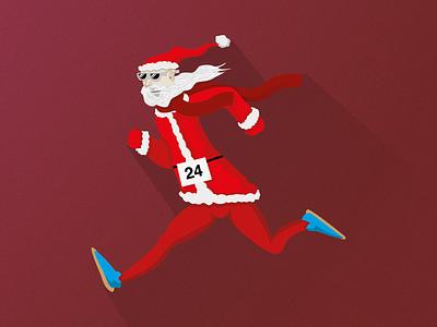 Marathon Santa Claus concept humor character design character vetor santa claus christmas marathon art illustration art illustrator illustration