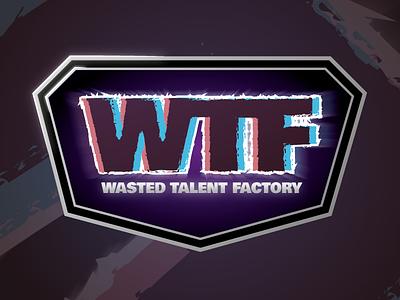 Wasted Talent Factory illustration logodesign illustrator typography vector branding logo design gaming counter strike cs:go logo