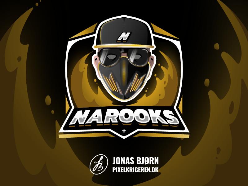Narooks twitch design vector typography logotype gaming logo esportlogo character design character esports esport logodesign branding logo design logo illustrator cs:go counter strike gaming illustration