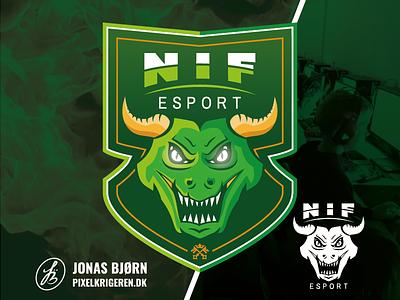 NIF esport mascot character mascot design mascot mascot logo dragon gaming logo gaming counter strike cs:go esport esports logodesign branding logo design logo