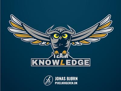 Team KnowLedgE illustration logodesign esports typography vector design esport branding logo logo design
