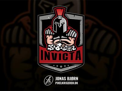 InVicta hero rome gladiator gaming logo cs:go logo design logo esports logo branding esport