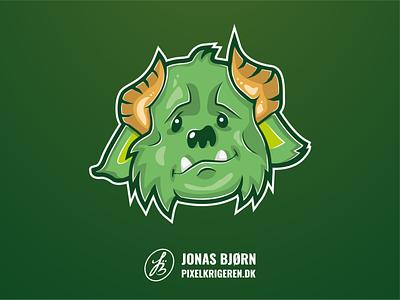 Troll green cartoon illustration monster troll
