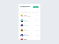 SecondHerd / Manage contacts UI module
