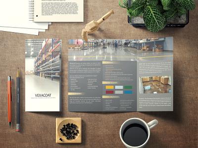 Vexacoat Brochure brochure mockup brochure design illustration photoshop layouting design branding