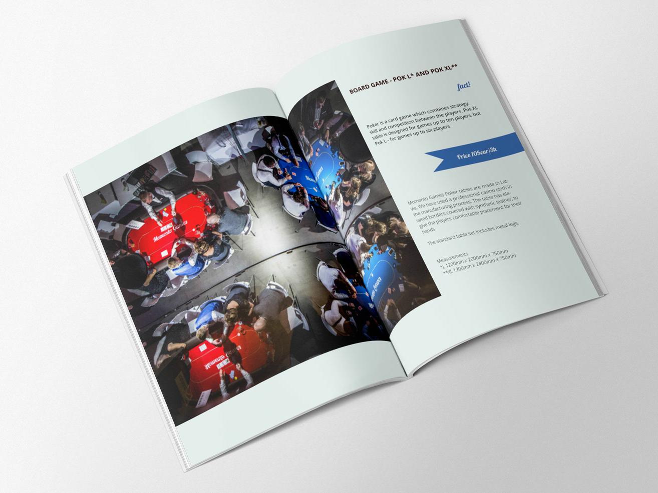 Momento Games Catalogue design graphic  design catalog design catalog