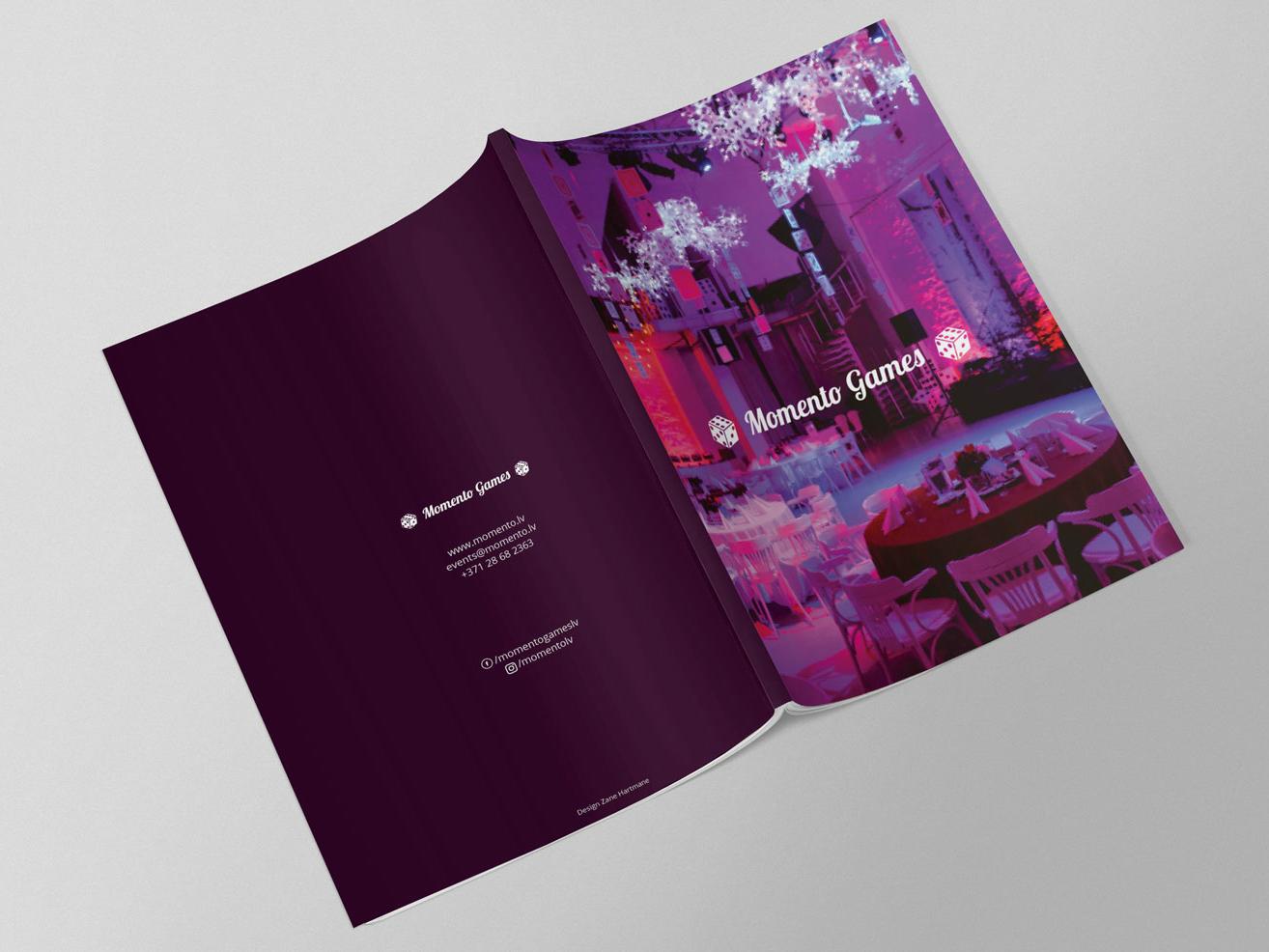Momento Games Catalogue design graphic  design catalogue design catalog