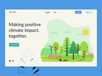 Landing page animation lottie web design web animation growing tree animals forest climate change pollution planet hero section landing page 2d animation motion graphics animation ui