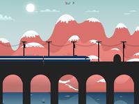Train Over Sea