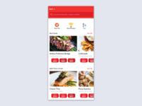 Restaurant Reservation App Explore Page