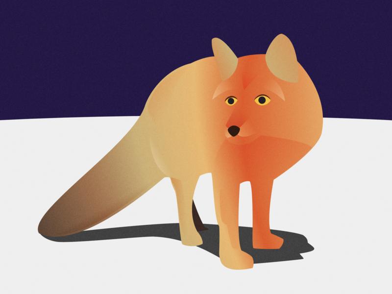 Fox on Snowy Mountain design snow mountain fox illustration art vector art