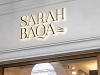 """Sarah baqa"" brand logo"