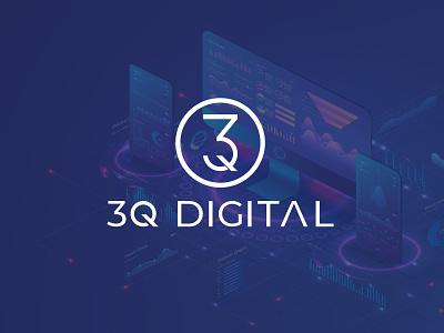 3Q Digital logo illustration flat logo flat logo design design branding vector minimal logo flat logo design minimalist logo