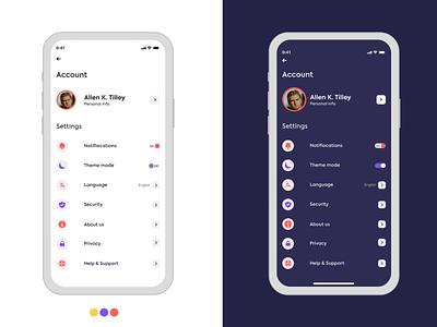 App Settings app uiux ux uiui mobile ui