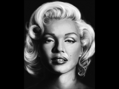 Marylin Monroe painting history portrait