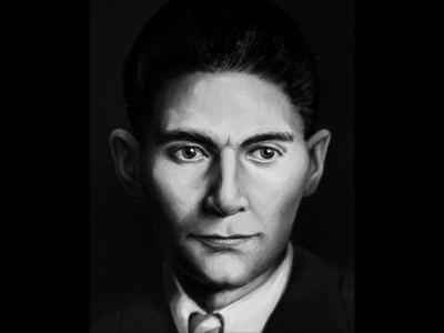 Franz Kafka painting face portrait