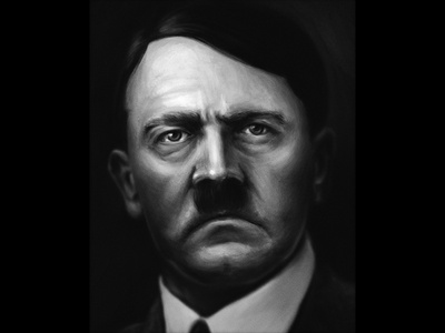 Adolf Hitler face history painting digital personality
